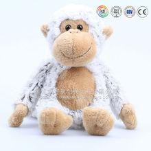Big size & cheap wholesale plush white monkey toy with love heart