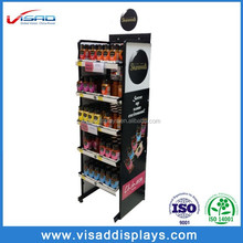 Retail shopping 5-frame bottled food display stand