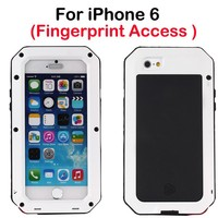 Dropproof Shockproof waterproof solar power cell phone case for iphone 6 metal alloy mobile cell phone case for iPhone 6