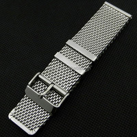 GD011520 Silver Mesh High Quality 20mm Hole Watch Band/Strap