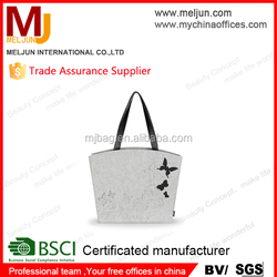 BSCI factory high quality simple design felt tote bag