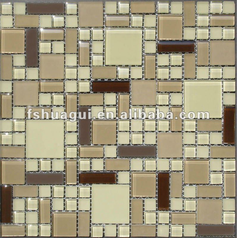 Tamano Baldosas Baño:Glass Mosaic Tile