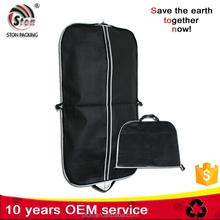 Customized logo print foldable non-woven fabric non woven suit coat garment dust cover bag