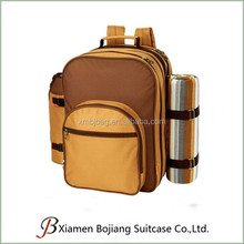 multi-function use four pupils outdoor picnic bag cooler backpack with drink holder