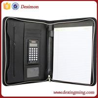 A4 Business Folder Leather/PU Fashionable Cheap Leather Portfolio/ travel portfolio bulk buy