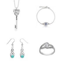 925 Sterling Silver Fashion Jewelry delicate jewelry set