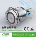 cmp 22mm a prueba de agua de acero inoxidable interruptor de botón con led interruptor eléctrico