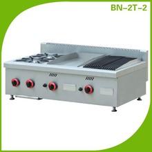 Restaurante encimera equipo de cocina / italiano utilizado estufas de gas BN-2T-2