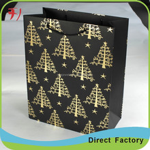 Custom Luxury recycle big black card paper bags for shopping & packing