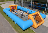 low price skyblue color inflatable human foosball for sale
