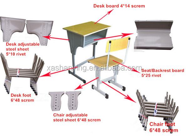 Tamanho padr o de mesa do estudante e cadeira ajust vel for Partes de una mesa