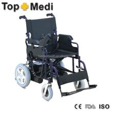 Guangzhou Topmedi Power Coating Steel Frame Foldable Power Wheelchair with Motor