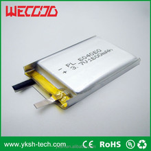 ICS304770 1000mAh lithium polymer battery at 3.7v can be packed in parallel or series