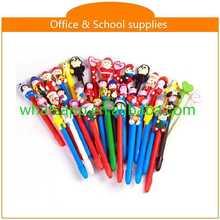 High quality cartoon polymer clay ball pens batter pen