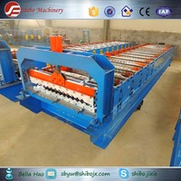 Automatic 850 corrugated Shibo metal roof tile making machine clay roof panel forming machine