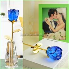 New Design Crystal Glass Rose Flower in Yiwu