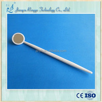 Dental mirror with tip holder and straight holder