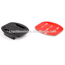 2014 Hot Sale For gopro Accessories 2X Flat mount + 2pcs 3M VHB Adhesive Sticky For Gopro Hero 3 Hero 2 Sports Camera