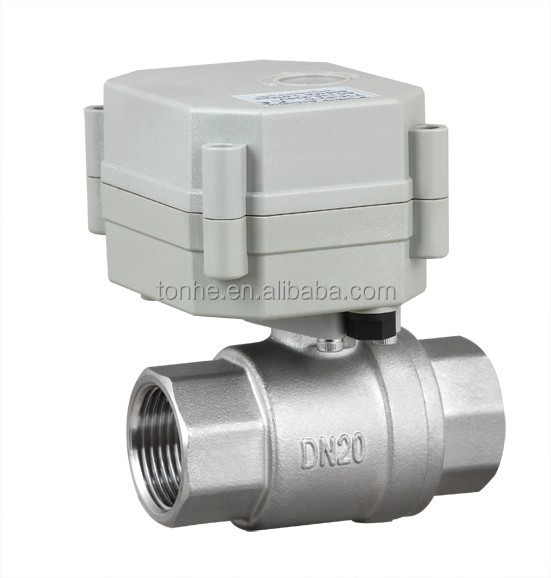 High quality nsf61 g 3 4 inch electric control stainless for Motorized flow control valve