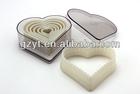Nylon em forma de coração 7-Piece bolo moldes Cookie Cutters