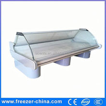 glass front open pork beef chicken chiller refrige