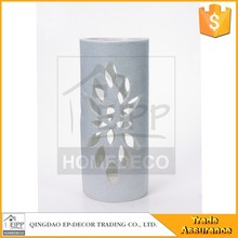 Chian Supplier White Glass Added Faric Hollow Cover Vase Tall Glass Vases