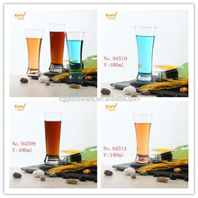 2015 new design hand blown good quality thin beer glass /400ml juice glasses