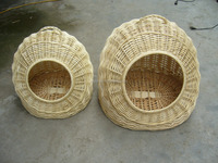 willow pet bed hand made wicker pet bed