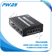 High quality YPBPR CVBS S-VIDEO To HDMI VGA fiber single mode media converter for sale