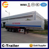 Hot Sale 3 Axles 42CBM stainless steel oil tank trailer