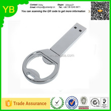 cusrom metal bottle opener with usb flash jump drive