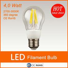 360 degree CE Rohs UL standard edison vintage E27 4W filament led bulb E27