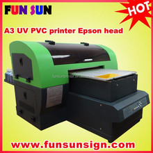 8 color A3 flatbed printer to print Phonce case ,cd ,ID card , Tshirt