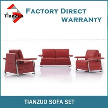 Red stainless steel sofa leisurely living room sofa