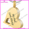 IJD8529 memorial jewelry gold heart for dad stainless steel cremation urn pendants for ashes