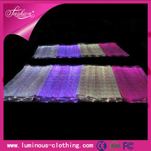 LED lighting fiber optical fabric cloth RGB changeable colors cotton pique fabric/ magnetic fabric