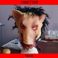 MK-232 pig face mask with hair Halloween pig face mask,latex pig head mask