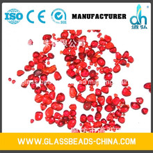 China made crushed colored glass seed beads for swimming pool