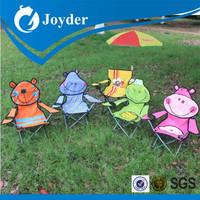 2015 Hot Items cheap small outdoor metal beach kids animal folding chairs