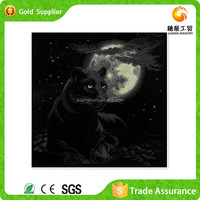 Full Stock Wall Atr Decor Drawing With Aniaml Title 5d Diamond Painting