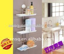 Disco de chupar capa de compuesto& de plástico de baño estante& bastidor de acero& estante de la cocina