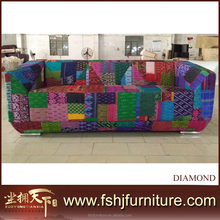 New Product Modern fabric knitting furniture, living room furniture sets TX-color diamond