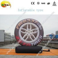 attractive outdoor giant advertising model inflatable tyre