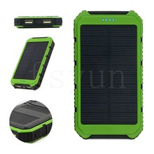 12000mAh portable waterproof solar power bank,RoHs window solar mobile phone charger