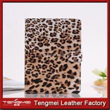 PU leather case for ipad mini,leopard print tablet case for ipad,stand cover case for ipad mini
