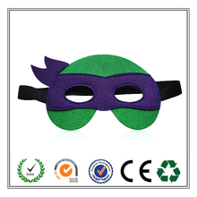 Halloween Gift Handmade Ninja Turtles Felt Face Mask with Elastic Band