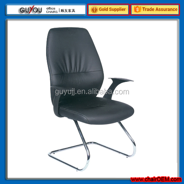Y-1857C Black Back Reception Chair/Office Furniture