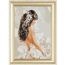 Factory direct sale dancing girl diy oil painting by numbers