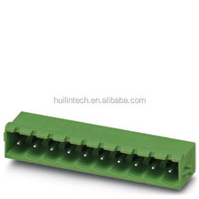 Phoenix alternative 2-18 pin parallel to the pcb male plug terminal block with card button