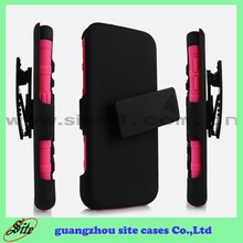 Free Sample Hydrid combo mobile phone cover with kickstand for Samsung S6